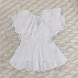 Zara white dressy top✨
